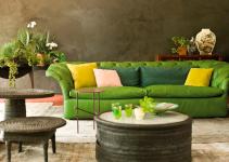 Sofá estilo bohemio para salones pequeños