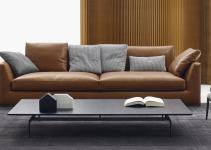 Sofá de cuero 2 plazas pequeño