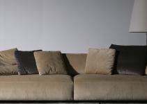Sofá de piel moderno