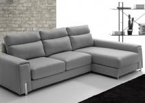 Sofá de piel pequeño para espacios reducidos