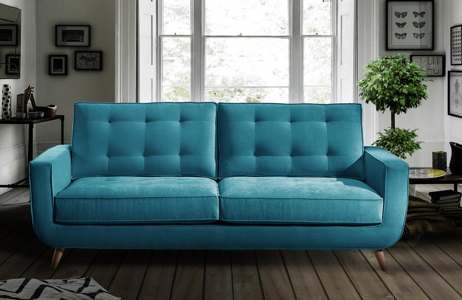 Sofá de piel pequeño moderno