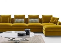 Sofá de tela moderno y pequeño