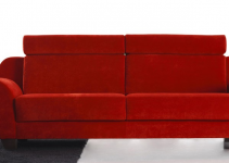 Sofá estilo retro para un salón pequeño