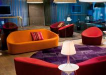 Sofá moderno de tela 2 plazas