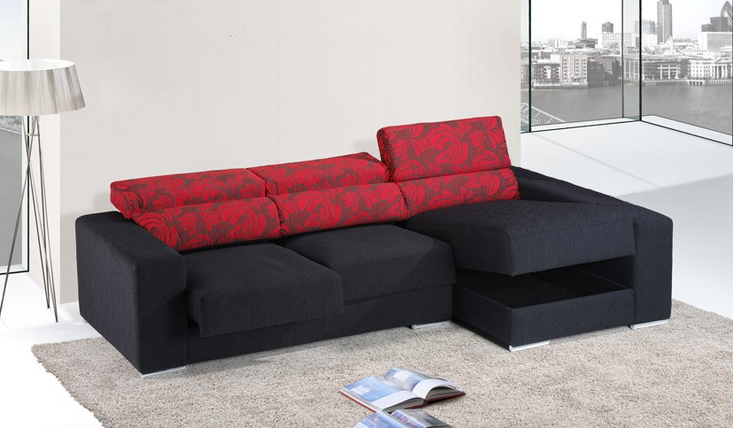 Sof moderno peque o con chaise longue im genes y fotos for Sofas chaise longue pequenos