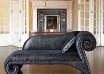 Sofá pequeño con Chaise Longue en madera