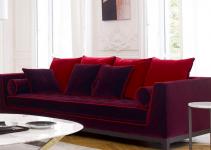 Sofá pequeño en tapizados vivos