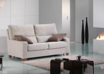 Sofá pequeño moderno de tela