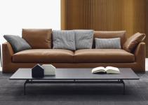 Sofá pequeño modular de tela
