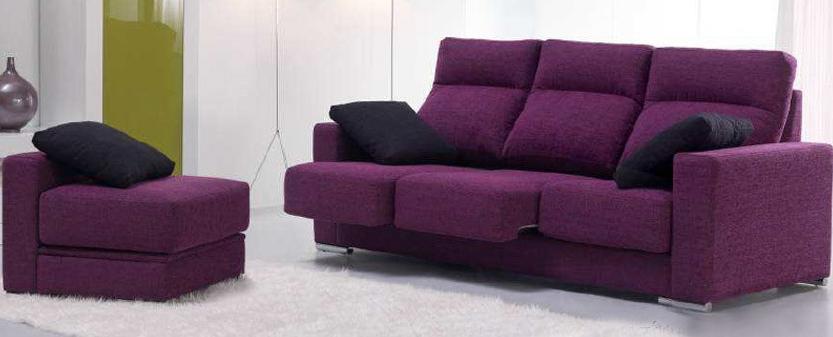 Sofá Pouff pequeño con tapizado de tela